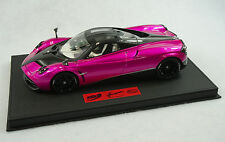 1/18 BBR PAGANI HUAYRA FLASH PINK DELUXE BLACK LEATHER BASE LIMITED 15 PIECES MR