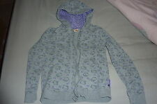Girls Hello Kitty grey/purple hooded zipper jacket TU age 11 years