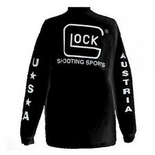 New Glock Apparel Sport T-shirt Long Sleeve Black Large Model# AP61505