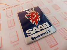SAAB SWEDEN BADGE EMBLEM SIDE WING INTERIOR EXTERIOR 93 95 97 90 900 9000