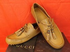 NIB GUCCI WILDFIRE LEATHER  DAMO BAMBOO TASSEL DRIVER LOAFERS 13.5 14.5 #367923
