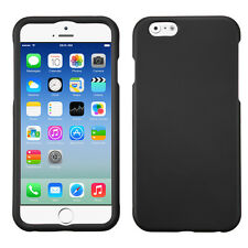 NEW * for APPLE iPhone 6 (4.7-inch ) BLACK HARD CASE COVER + SCREEN PROTECTOR