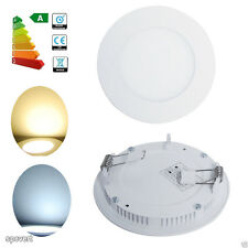 6W LED Ceiling Down Light Round Recessed Panel Lamp Kit Warm Cool White+ Driver