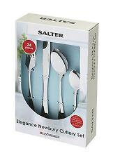 Salter Newbury in Acciaio Inox Set 24 PEZZI POSATE COLTELLO FORCHETTA CUCCHIAI x6 persone