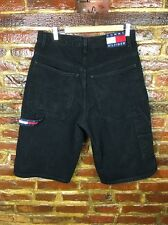 Vintage Tommy Hilfiger Black Carpenter Jean Shorts Men's Size 33