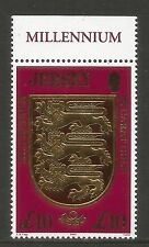 Jersey 2000 Millennium/Coat of Arms £10--Attractive Heraldry Topical (933) MNH