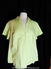 Riders Instantly Slims You Granny Apple Green Short Sleeved Shirt 2X