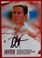 DEXTER - Series 5 & 6 - DESMOND HARRINGTON Autograph Card - ADH2 BLACK VARIANT