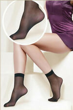 2 Pairs Sexy Women Girls Ultra-thin Fiber Pure Sheer Ankle High Pop Short Sock