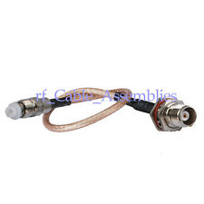 TNC jack female bulkhead to FME Jack pigtail Coax Cable RG316 15cm for Wireless