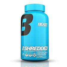 Beast Sports 2 SHREDDED Fat Burner Weight Loss 120 Capsules Energize Thermogenic