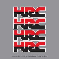 2359 -  4 x HONDA HRC Decals Stickers - Honda Racing Corporation - 75mm x 25mm