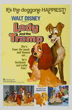 LADY AND THE TRAMP Movie POSTER 11x17 H Larry Roberts Peggy Lee Barbara Luddy
