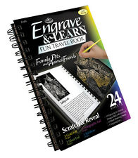 Royal Langnickel Engrave Art Book Engraving 12 Projects Scratch Scrap FAMILY PET