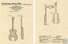 BUCK OWENS Acoustic Guitar Art Print READY TO FRAME!!!! Red White Blue Body