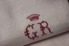 Napkins 9 Vintage French SET GR royalty Viscount   28X31 Damask napkin CROWN