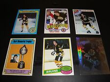 Boston Bruins Vintage Hockey Card Lot of 6 From 1974-1991 Ray Bourque Brad Park
