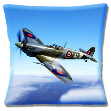 "NEW SUPERMARINE SPITFIRE FIGHTER AIRCRAFT PHOTO PRINT 16"" Pillow Cushion Cover"