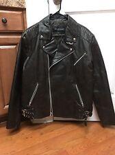 United Face Leather Men's Biker Jacket