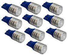 10x ampoule T10 W5W 12V LED HIGH POWER bleu veilleuse éclairage intérieur coffre