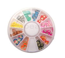 6 cm WHEEL FIMO ANIMALS MIX NAIL ART DECO DESIGN CRAFT SLICE FOR NAILS DOG CAT