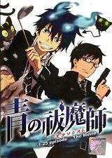 Anime Blue Exorcist TV 1 - 25 End + Movie Complete ENGLISH Series - UK DISPATCH