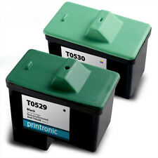 2 Pack Dell Series 1 Ink Cartridge T0529 T0530 for A920 720 Inkjet Printers