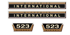 IHC Aufkleber international 523 Gold Logo Emblem Sticker Label