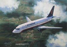 RYANAIR BOEING 737 AIRLINER ART PRINT