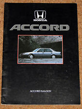 1986 HONDA ACCORD (3rd Gen) Sales Brochure - 2.0 EX, 2.0 EXi Saloon