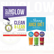 Skinny Juice Diet Recipe Book 2 Books Collection Set Clean & Lean Fast New