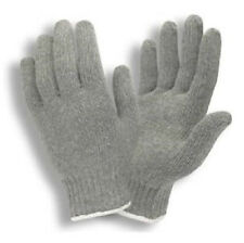 1 PAIR GRAY  KNIT POLY / COTTON WORK GLOVES PAIRS GREY LARGE L