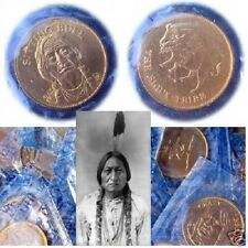 Sitting Bull: Sioux Tribe.  Rugged Americans Coin. Franklin Mint. Sealed!