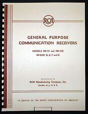 RCA AR-77 AR-77E Communication Receiver Manual