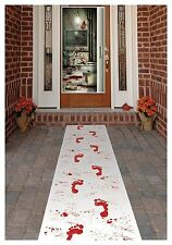 Halloween Bloody Footprint FLOOR RUNNER Carpet Table 457 x 67cm Party Decoration