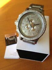 NIXON watch 51-30 CHRONO RAW STEEL  A083-1033 A0831033  free shipping