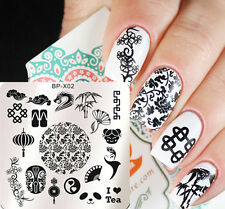 BORN PRETTY Nail Art Stamping Plates China Image Stamp Template 6*6cm BP-X02