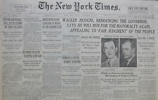 9-1932 September 2 UK AND FRANCE ACT IN ACCORD FOR ARMS REICH. WALKER RESIGNS