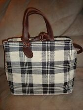 Route 66 Plaid B & W Pocketbook Hand Bag Carry All *NWOT* (12 X 10 X 6)