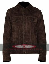 Rubber Soul Brown Beatles John Lennon Brown Suede Leather Jacket