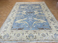 9 x 12'3 HAND KNOTTED BLUE OUSHAK ORIENTAL RUG VEGETABLE DYES G3998
