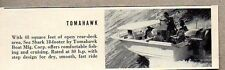 1960 Magazine Photo Tomahawk Sea Shark 18' Boats