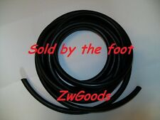 "1/16"" I.D x 1/32"" wall x 1/8"" O.D Latex Rubber Tubing Black Surgical by the foot"