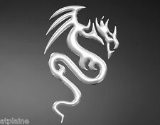 Sticker relief 3D DRAGON chromé -Style BIKER HARLEY