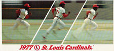 1977 ST. LOUIS CARDINALS TICKET BROCHURE- BASEBALL