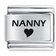 NANNY HEART - 9mm Daisy Charms by JSC Fits Classic Size Italian Charm Bracelet