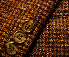 38 R Mens YSL Yves Saint Laurent Brown WOOL Tweed Suit Jacket Blazer Sportcoat S