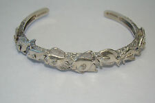 925 Sterling Silver Signed KABANA Fish Cuff Bracelet - 24.22 Grams - Item# I408