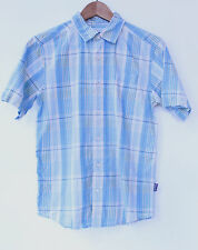 Vintage Patagonia Short Sleeved Checked Shirt, Blue, Size XS, VGC