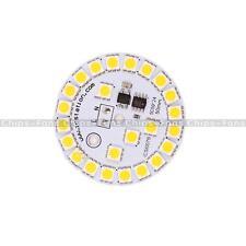 Warm White 7W 5050 LED Light Emitting Diode SMD 220V Highlight Lamp Panel 50mm